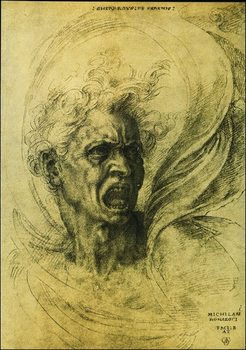 Reproducción de arte  Michelangelo - La Furia