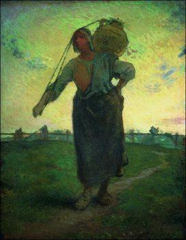 Reproducción de arte Millet - La laitiere Nomade