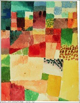 Reproducción de arte P.Klee - Disegno Su Hamammet