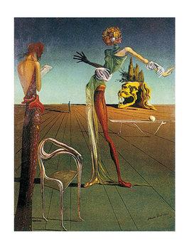 Reproducción de arte Salvador Dalí - femme a tete de roses