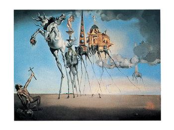 Reproducción de arte Salvador Dalí - la tentation