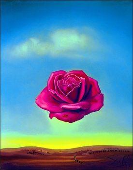 Reproducción de arte  Salvador Dali - Medative Rose