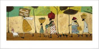 Reproducción de arte Sam Toft - Doris helps out on the trip to Mzuzu