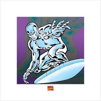 Reproducción de arte Silver Surfer - Marvel Comics