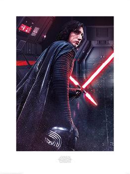 Reproducción de arte Star Wars: Episodio VIII - Los últimos Jedi- Kylo Ren Rage