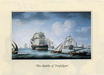 Lámina The Battle of Trafalgar