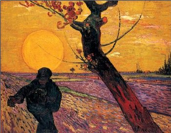 Reproducción de arte  The Sower, 1888