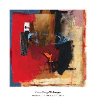 Reproducción de arte Variation In Red & Black I