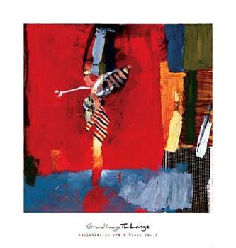 Reproducción de arte Variation In Red & Black II