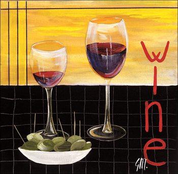 Reproducción de arte  Wine