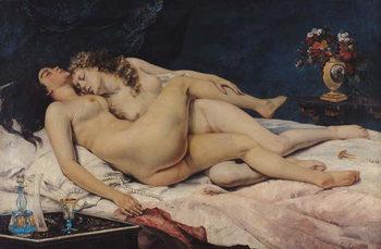 Le Sommeil, 1866 Festmény reprodukció