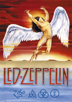 Led Zeppelin - Swan Song - плакат (poster)
