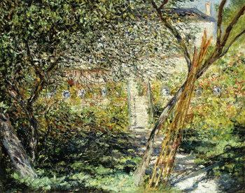 Leinwand Poster A Garden in Vetheuil; Le Jardin de Vetheuil, 1881