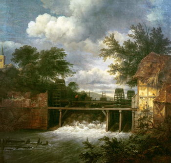 Leinwand Poster A Watermill