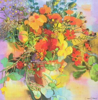 Leinwand Poster Autumn Flowers