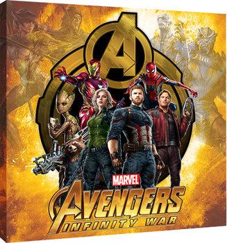 Leinwand Poster Avengers Infinity War - Explosive