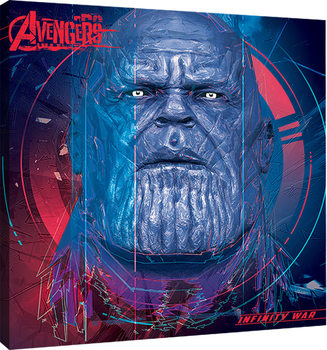 Leinwand Poster Avengers Infinity War - Thanos Cubic Head