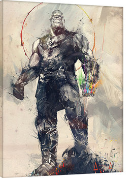 Leinwand Poster Avengers Infinity War - Thanos Sketch