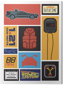 Leinwand Poster Back to the Future - Collection