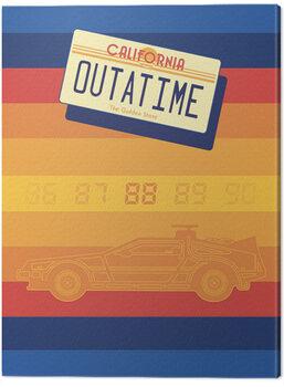Leinwand Poster Back to the Future - Retro Stripes