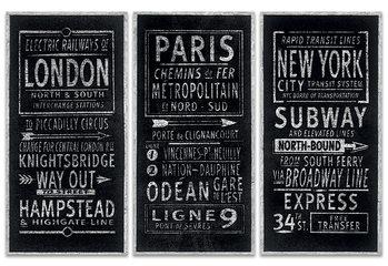 Leinwand Poster Barry Goodman - London Paris New York
