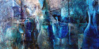 Leinwand Poster Blue curacao