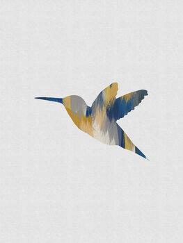Leinwand Poster Blue & Yellow Hummingbird I