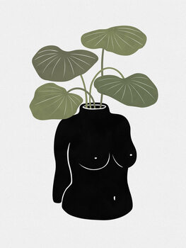 Leinwand Poster Boob-tanical Vase