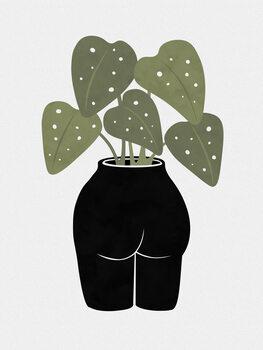 Leinwand Poster Butt-anical Vase
