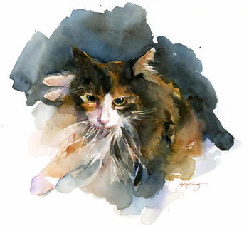 Leinwand Poster Calico Cat, 2015,