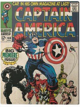 Leinwand Poster Captain America - Premier