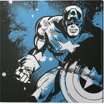 Leinwand Poster Captain America - Splatter
