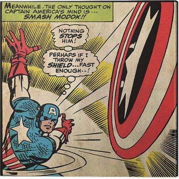 Leinwand Poster Captain Americe - Shield
