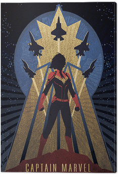 Leinwand Poster Captain Marvel - Deco