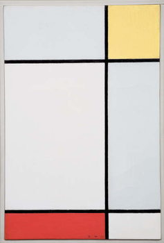 Leinwand Poster Composition with Yellow and Red, 1927
