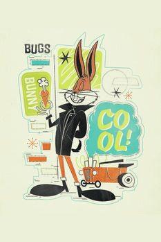 Leinwand Poster Cool Bugs Bunny