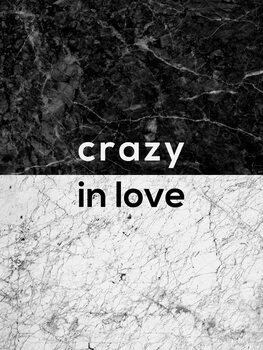 Leinwand Poster Crazy In Love Quote