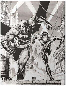 Leinwand Poster DC Comics - Batman and Nightwing