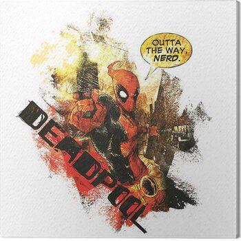 Leinwand Poster Deadpool - Nerd