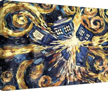 Leinwand Poster Doctor Who - Exploding Tardis