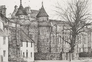 Leinwand Poster Falkland Palace, Scotland, 200,7