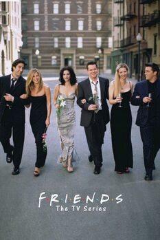 Leinwand Poster Friends - TV-Serie