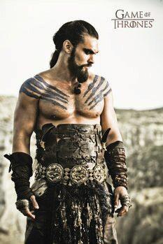 Leinwand Poster Game of Thrones - Khal Drogo