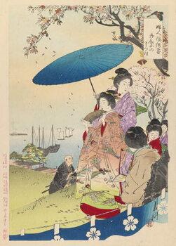 Leinwand Poster Geisha in Springtime