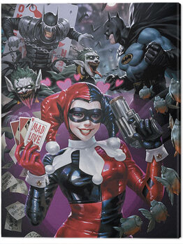 Leinwand Poster Harley Quinn - The One Who Laughs