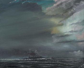 Leinwand Poster HMS Hood 1941, 2014,