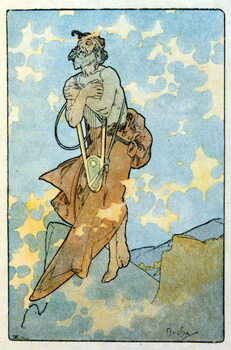 Leinwand Poster Illustration by Alphonse Mucha from Clio a work by French author Anatole France. 1900. Mucha . was a Czech Art Nouveau painter
