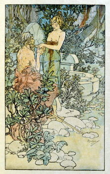 Leinwand Poster Illustration by Alphonse Mucha from Clio
