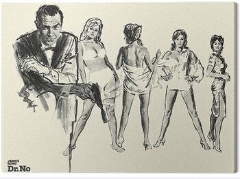Leinwand Poster James Bond - Dr. No - Sketch