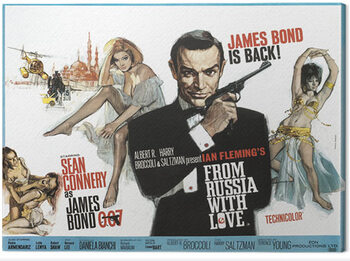 Leinwand Poster James Bond - From Russia With Love - Painting